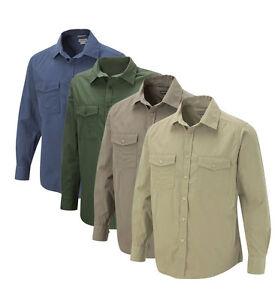 Craghoppers Mens Kiwi Long Sleeve Shirt S-4XL Travel Sun Protection Nosi Defence