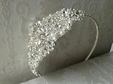 Bridal Crystal Headband, Rhinestone Wedding Headband - Silver and Crystal