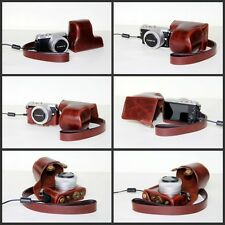 Coffee camera leather case bag to Panasonic LUMIX DMC- GM1 GM1KK KS 12-32mm lens