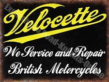vintage garage, 72 VELOCETTE motocycle revendeur, moto, Grand enseigne en métal