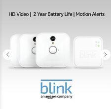 Blink Indoor Camera Smart Home Security Battery System - 3 Cam