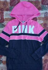 VS pink hooded pullover new medium dark grey/hot pink colorblock logo