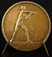 Medal Sport Olympic Lancer of Disc Discus c1930 Medal Non Awarded