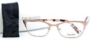 CALVIN KLEIN CK7395 780 Rose Gold Cat Eye Womens Full Rim Eyeglasses 52-17-135