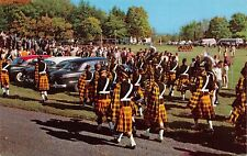 OH803 Wooster College Marching Band, Scotish Uniforms, Wooster, Ohio, Postcard