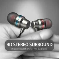 HIFI 3.5mm Super Bass Headset In-Ear Earphone Stereo Earbud Headphone Wired Mic