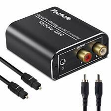 Techole Convertitore Audio Digitale Analogico, 192Khz Adattatore Ottico RCA da