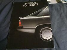 1990s Renault 25 V6 Turbo UK Market Color Brochure Prospekt