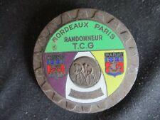 MEDAILLE BROCHE BADGE VELO  RANDONNEUR  TCG BORDEAUX PARIS