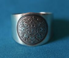 Aztec Calendar Sterling Silver Ring .925 From Taxco MX NEW!