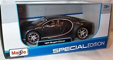 Bugatti Chiron Dark Grey Metallic 1-24 Scale Maisto Model New in box