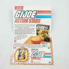 Gi Joe Starduster Cereal Coupon Rare 1987 Insert From Cereal Box Never Used