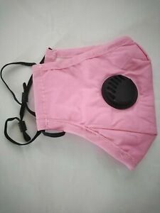 4 New PM2.5 Pink Washable Reusable Cotton Face Masks with Air Vent +8 Filters