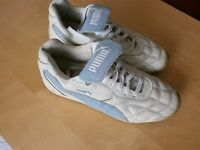 Puma Avanti Lederschuh Sneaker blau/weiß Größe 43