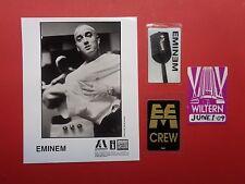 EMINEM,promo photo,3 Backstage passes,RARE Originals,Various tours