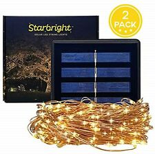 Solar LED String Fairy Lights Outdoor Warm White 8 Lighting Modes Weatherproof