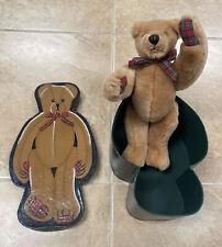"RARE Retired FAO SCHWARTZ Fifth Avenue Hinged 12"" Teddy Bear w/ 14"" Nesting Box"