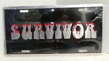 SURVIVOR Funny Novelty Embossed Metal License Plate