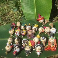 Key Handmade Wooden Doll Keychain Gift Souvenir Characters voodoo Cute