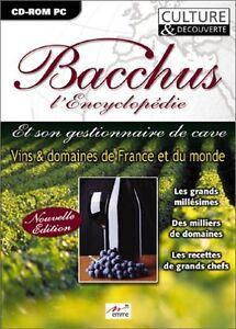 Bacchus l'Encyclopédie - CD-ROM PC - NEUF