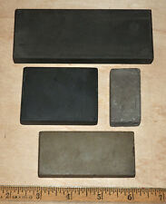 ASSORTED LOT of 4 Vintage SHARPENING STONES, WHETSTONES (1000 - 5000 GRIT?)
