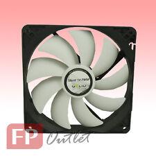 GELID SILENT 14cm 140mm PWM 4-pin Intelligent Low Noise Rubber Mount PC Case Fan