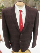 New listing Vintage 1960s Plaid Sport Coat Blazer 43Xs - Rich Flannel Jacket by Curlee