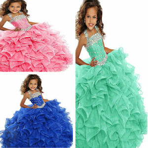 Flower Girl Dress Stock Ball Gown Party Princess Dance Pageant Dress Formal Kid