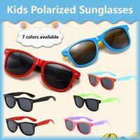 丨丨Rubber Kids Polarized Sunglasses With Strap Glasses Shades for Boys Girls Baby
