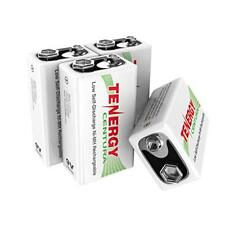 Tenergy 4PCS 9V Low Self Discharge Centura NiMH Rechargeable Batteries 200mAh 9V