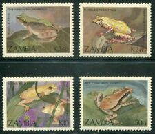 ZAMBIA  462 - 465  Beautiful Mint  NEVER   Hinged  Set  FROGS  AG
