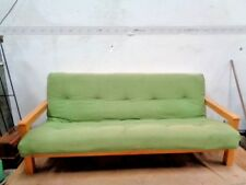 Futon  Double 2 Seater Sofa Bed Natural Wood day bed