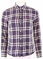 JACK WILLS Womens Shirt UK 8 Small Multicoloured Check Cotton Oversized DU07