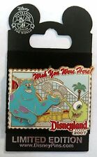 Monsters Inc WISH YOU WERE HERE Sulley & Mike CALIFIRNIA SCREAMIN Disney Pin LE