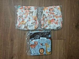 Reusable cloth nappies with wet bag