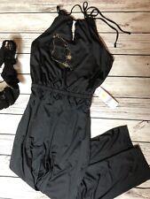 NWT Black Halter Jumpsuit Jumper L