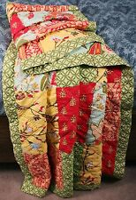 Quilted Patchwork Throw Garden Menagerie Floral Lap Blanket