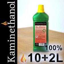 10+2 Liter Bioethanol 100%, 12 Flaschen mit Kindersicherung