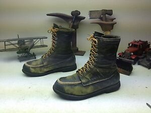 VINTAGE USA BROWNING SPORTMAN ENGINEER LACE UP CHORE PACKER BOOTS SIZE 8.5 D