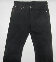 Levi's 501 W32 L34 schwarz Designer Denim Herren Men Jeans Hose Straight Fit Cut