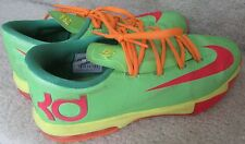 Nike KD VI 6 GS Candy Edition Lime Red Orange (599477-300) Size 7Y