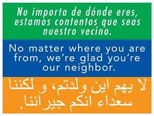 2-Pack  We're Glad You're Our Neighbor Yard Signs - 2-sided w/ H-stakes USA Made