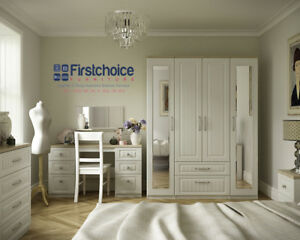 Ready Assembled Portobello Cashmere Wardrobe Drawers Complete Bedroom Furniture