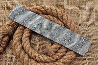 HUNTEX Forged Damascus Steel 25 cm Twist Pattern Blank Blade Billet Knife Making
