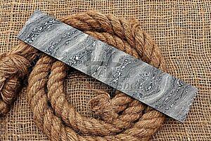 HUNTEX Forged Damascus Steel 255mm Twist Pattern Blank Blade Billet Knife Making