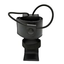 Cobra Tufskin Genuine Leather Universal Police Radio Holder Ems Black Hardware
