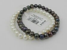 Pearl (6-1/2 mm) Stretch Bracelets Macy's 2-Pc. Set White Cultured Freshwater