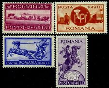 1944 Motorcycle,Post Coach,Mail man,Truck,Horses,Postillon,Romania,817,CV$20/MNH