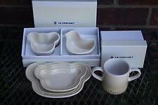 Le Creuset BABY SET Mug cup, 2 Bear Plates, Bear / Chicken Ramekin gift  DUNE