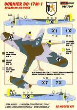 KORA Models Decals 1/72 DORNIER Do-17M-1 Bulgarian Air Force